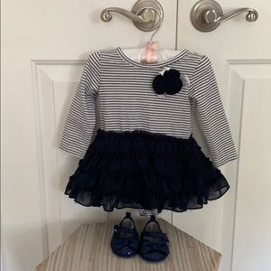 Other - Dress size 6 month or 12-17 lb and shoes